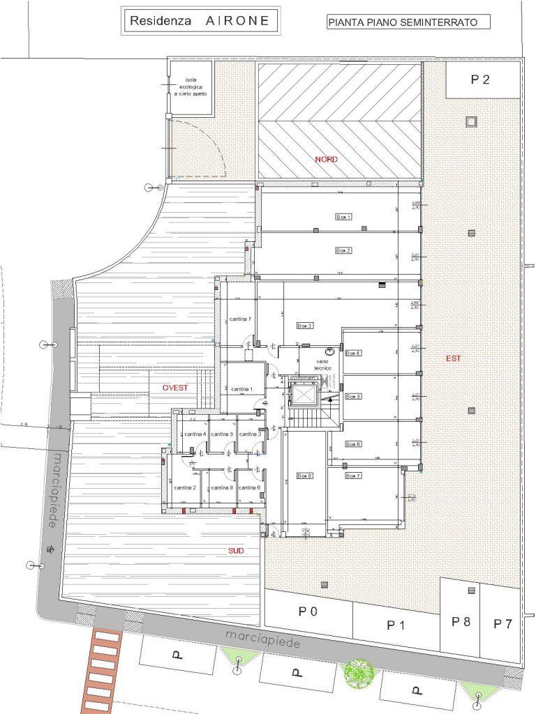 Residenza airone case in vendita a lein for Planimetrie seminterrato